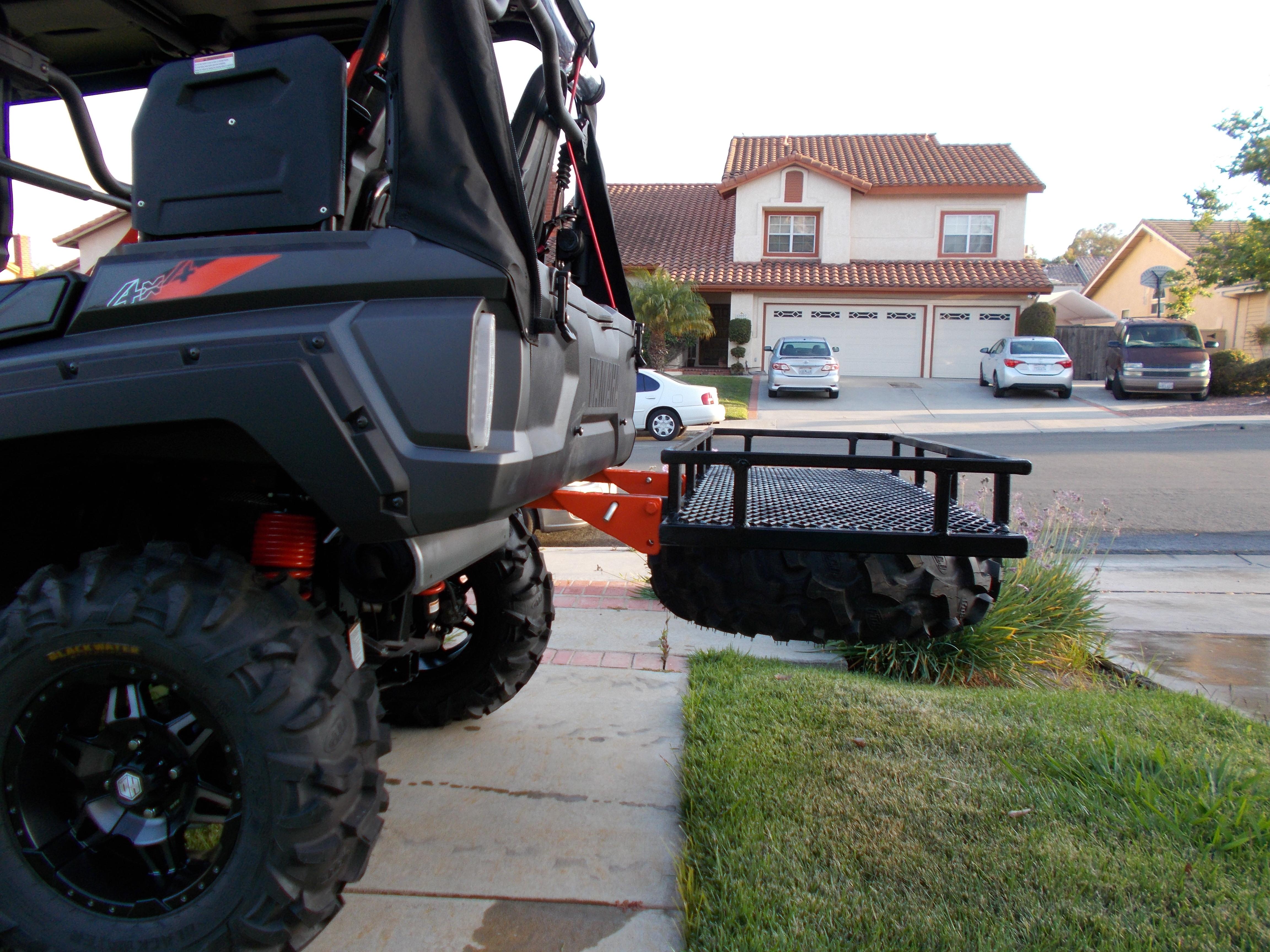 Wolverine X4 Tilting Cargo Basket Spare Tire Carrier