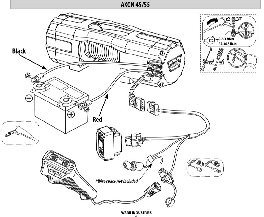 warn 12k winch wiring diagram warn axon 45rc ordered   tow hook up question page 2  warn axon 45rc ordered   tow hook up